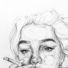 Siguemee como Manuela Paz ❤ Y disfruta de mi con. Pencil Art Drawings, Art Drawings Sketches, Cool Drawings, Pencil Sketching, Art Inspo, Inspiration Art, Pencil Drawing Inspiration, Art Du Croquis, L'art Du Portrait