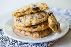 Oatmeal-Dark Chocolate & Coconut Cookies   browneyedbaker.com #recipe