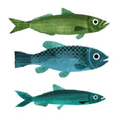 Three little fishes.... in my quest to discover new brushes I've just come across halftone brushes and found they are really good fun…