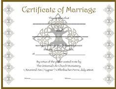 Marriage Certificates  Bing Images  Wedding Things