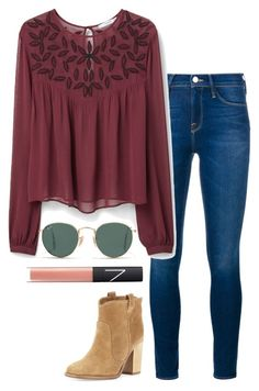 A fashion look from February 2016 featuring MANGO blouses, Frame Denim jeans and Laurence Dacade ankle booties. Browse and shop related looks. Cute Fall Outfits, Fall Winter Outfits, Cool Outfits, Casual Outfits, Fashion Outfits, Simple Outfits For School, Outfits For Teens, Loose Shirt Outfit, Kinds Of Clothes