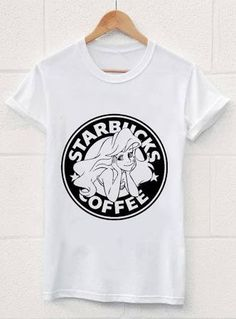 3806df287c47c The Little Siren Tank Top Starbucks Parody Little Mermaid Ariel - American  Apparel Unisex Sizes S