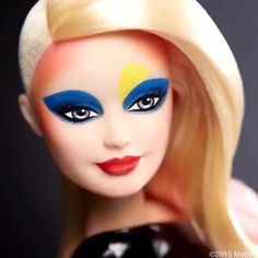 """""""The iconic Barbie transformed!!! I collaborated with @BarbieStyle to bring a few of my makeup moments to life. Here's one of four, Jessica Stam i-D Magazine cover circa September 2004 shot by @richardburbridge...contouring and a primary color palette #OBSESSED #makeupbypatmcgrath ❤️"""" Photo taken by @patmcgrathreal on Instagram, pinned via the InstaPin iOS App! http://www.instapinapp.com (10/04/2015)"""