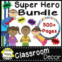 SAVE TIME & MONEY with this Editable Super Hero Theme Classroom Decor Bundle. It will help you be an organized teacher, help with classroom management, and create a positive environment. Planet Happy Smiles Classroom Decor Bundles make starting your year off a BREEZE especially if you are on a budget! Jam Packed with 500+ pages, so many resources!