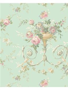 AK7466 - Wallpaper | Blooms p.64 | AmericanBlinds.com Bathroom $65.42