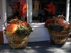 great looking fall baskets