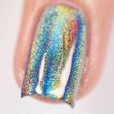 July 29: Holographic Nail by @twi_star; see the full nail art gallery at http://www.nailitmag.com/nail-art-of-the-day/holographic-nail