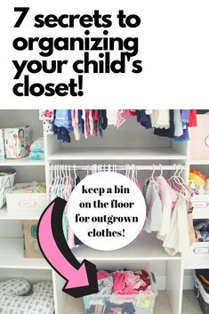 baby organization This post has great ideas for how to organize a babys closet! Includes ideas for large and small closets - something for everyone! Every mom or dad should read this to help keep baby stuff organized. Small Closet Storage, Baby Closet Organization, Small Closets, Organization Ideas, Small Nursery Organization, Clothing Organization, Open Closets, Dream Closets, Paisley