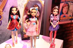 Disney Descendants Lonnie, Audrey and Jane in their signature outfits dolls by Hasbro, 2015