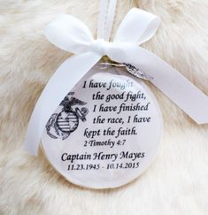 Memorial Ornament for Military Marine Navy Air Force Army Clear Ornaments, Glitter Ornaments, How To Make Ornaments, Christmas Deco, Christmas Ornaments, Christmas Crafts, Easter Crafts, White Christmas, Christmas Trees
