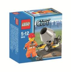 Name: Builder Manufacturer: LEGO Series: LEGO City Release Date: February 2009 Pieces: 23 For ages: 4 and up Details (Description): Includes cement mixer and mini figure! Building Sets For Kids, Building Toys, Lego City Sets, Lego Sets, Kits For Kids, Crafts For Kids, Lego Online, Cheap Lego, Lego For Sale