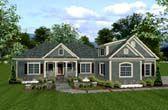 House Plan 74812 | Craftsman European Ranch Plan with 2000 Sq. Ft., 3 Bedrooms, 4 Bathrooms, 3 Car Garage