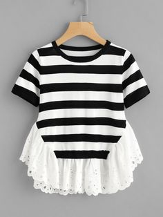 Teen Fashion Outfits, Trendy Fashion, Kids Outfits, Girl Fashion, Casual Outfits, Diy Summer Clothes, Jugend Mode Outfits, Frocks For Girls, Whimsical Fashion