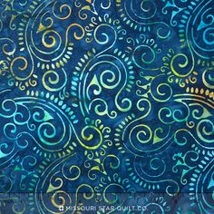 In the Limelight Batiks - Scroll Navy Yardage Cushion Fabric, Navy, Cotton, Hale Navy, Old Navy, Navy Blue