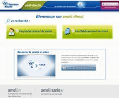 Capture d'écran site ameli-direct