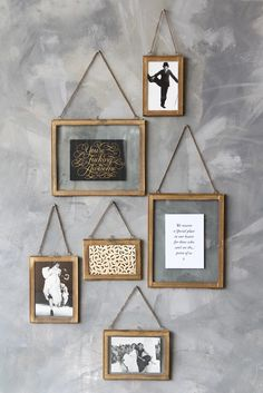 Wall Hung Brass Frame - Portrait or Landscape - 3 Sizes Available from Rockett St George