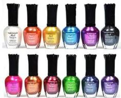 Kleancolor Nail Polish - Awesome Metallic Full Size Lacquer Lot of 12-pc Set Body C