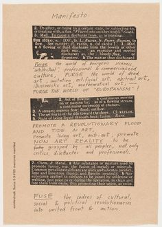 George Maciunas, Fluxus Manifesto, 1963