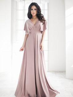 Нежное вечернее длинное платье в пол, фото 1