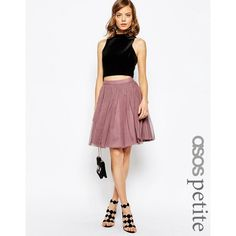 ASOS PETITE Tulle Mini Skirt with Layers ($45) ❤ liked on Polyvore featuring skirts, mini skirts, petite, pink, tulle skirts, petite skirts, white layered skirt, short miniskirt and pink tulle skirt