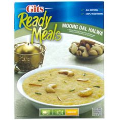 Buy Moong Dal Halwa online from Spices of India - The UK's leading Indian Grocer. Free delivery on Moong Dal Halwa - Gits (conditions apply). Dip Recipes, Indian Food Recipes, Microwave Bowls, Instant Recipes, Clarified Butter, Food Items, Delicious Desserts, Spices, Daal