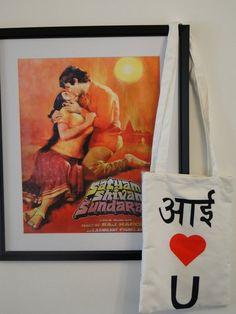 I LOVE YOU tote jhola bag