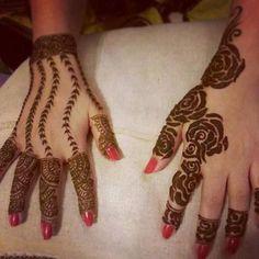 cool henna designs, arabic style