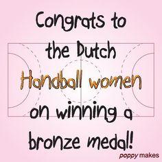 Congrats girls, on winning the bronze medal!    #PoppyMakes #Handbal #Handball #Holland #Sweden #TeamHolland #TheNetherlands #TessWester #JasminaJankovic #PearlVanDerWissel #MartineSmeets #YvetteBroch #DanickSnelder #AngelaMalestein #DebbieBont #LauraVanDerHeijden #NyckeGroot #LoisAbbingh #EstavanaPolman #KellyDulfer #JessyKramer #Brons #Bronze #Medal #BronzeMedal #Winner #Won #InstaSport #InstaLike #InstaFollow