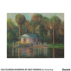 OLD FLORIDA MORNING AT SALT SPRINGS WOOD WALL ART
