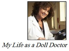 """Dr. Noreen """"My Life As a Doll Doctor"""" answers questions from the mailbag: """"First…. B.V. asks """"Do you have any suggestions on how to remove stainscaused by the dye from clothing?""""    Yes B.V.,I have an answer! I know from personal experience whenever I remove the dark or brightly colored clothing on any of my vinyl dolls….chances are pretty good I might find some stains.The best product I have used is """"Remove-Zit"""" made by Twin Pines of Maine."""""""