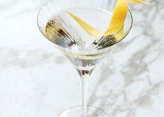 //Vesper// Ingredients:  (SERVINGS: MAKES 1) 1½ ounces Tanqueray gin, 1 ounce vodka, ½ ounce Lillet Blanc, 1 lemon,