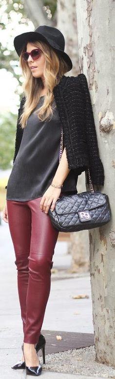 Red Legging Warm Stylish Jacket and Purse - World