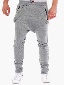 Modish Lace-Up Slimming Pocket Zipper Design Narrow Feet Polyester Low-Crotch Pants For Men Cheap Mens Fashion, Mens Fashion Suits, Fashion Pants, Style Fashion, Fashion Trends, Mens Jogger Pants, Men Trousers, Sweat Pants, Harem Pants