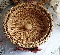 Купить Шкатулка для рукоделия - шкатулка, корзинка для рукоделия, шкатулка для рукоделия, удобное хранение, плетеная корзина