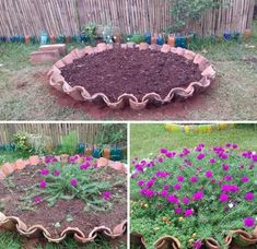 backyard designs – Gardening Ideas, Tips & Techniques Garden Deco, Garden Yard Ideas, Diy Garden Projects, Garden Crafts, Garden Paths, Garden Art, Beautiful Gardens, Beautiful Flowers, Recycled Garden