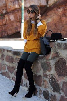 Jersey/Sweater – Coosy (FW 12-13)    Jeans – Bershka (old)    Camisa/Shirt – Vintage    Botas/Boots – Bershka (old)    Cinturón/Belt – Segunda mano/Second hand    Sombreros/Hat – Zara (FW 12-13)    Bolso/Bag – Parfois (FW 12-13)    Gafas de sol/Sunglasses - Emporio Armani via Optica Pelaez