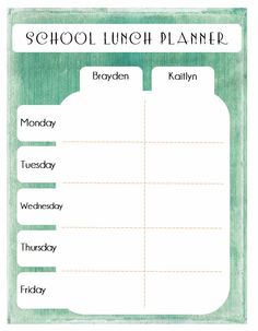 Chronicles of a Babywise Mom: Organizing School Lunches