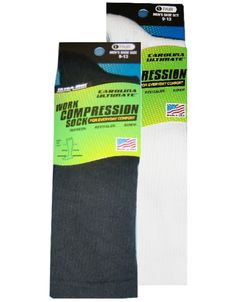 0889 Carolina Ultimate Work Compression Sock 2 Pair Pack