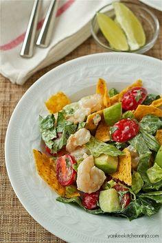 shrimp and avocado tortilla salad recipe