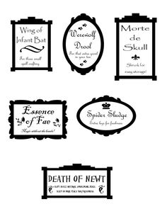 Printable Halloween Apothecary Labels | FollowPics