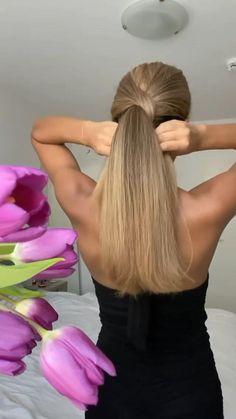 Hairdo For Long Hair, Bun Hairstyles For Long Hair, Diy Hairstyles, Medium Hair Styles, Short Hair Styles, Hair Style Vedio, Hair Ponytail Styles, Hair Upstyles, Aesthetic Hair
