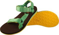 Teva Original Universal Women Sandals - Aqua Green / Yellow