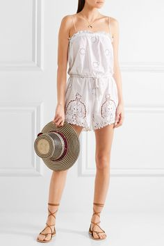 8136155cfc8 Miguelina - Peggy cotton and lace playsuit