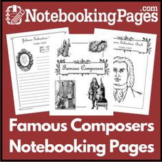 Wanna learn about Famous Composers? Check out over 20 free resources for Famous Composers including printables, lapbooks, and notebooking pages. Music Lessons For Kids, Music Lesson Plans, Music For Kids, School Website Templates, Middle School Music, Music Classroom, Classroom Ideas, Music Composers, Teaching Music