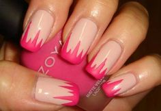 Beautiful Summer Nails Ideas=The good thing of nail designs is that you don't have to put fake nails in order to achieve it; you can perfectly let you nails grow a little bit so the design looks fuller.