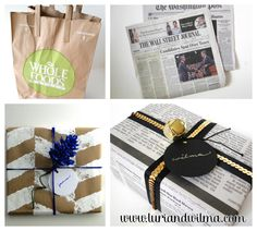 Fabric Paper Glue: Try This: Recycled Gift Wrap for Luri & Wilma