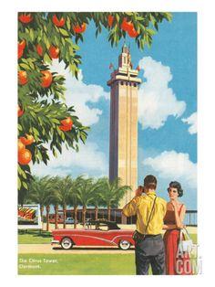 Citrus Tower, Clermont, Florida Premium Poster at Art.com