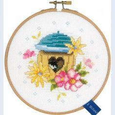 Bird House: kruissteekpakket met telpatroon