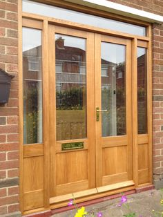 Bespoke European oak double doors and sidelights by Belfast Bespoke & Painted four panel hardwood door and frame by Belfast Bespoke ... pezcame.com
