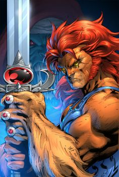 Jim Lee's Lion-O [I will always have a place in my heart for He-Man and Thundercats, thanks to my younger brother] Thanks, kid brother.